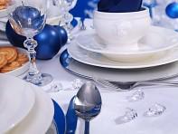 krystalky dekorace na svatební stůl