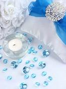 Aranžmá s tyrkysově modrými diamanty