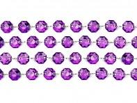 purpurově fialová krystalová girlanda