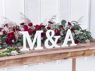 Velká svatební dřevěná písmena