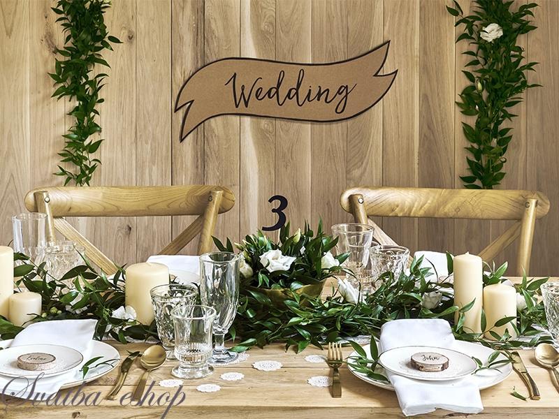 Cedule Wedding A Happy Couple Rustikalni Svatebni Vyzdoba A