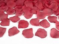 Konfety bordové plátky růží
