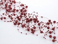 Burgundy perličky na silikonu svazek