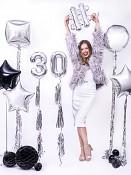 Stříbrné balonky čísla
