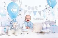 Použítí modré kolekce k prvním narozeninám