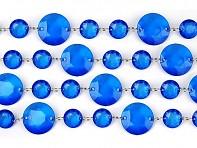 modrá krystalová girlanda