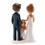 Svatební figurka novomanželé s dcerou