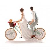 nevěsta a ženich na kole
