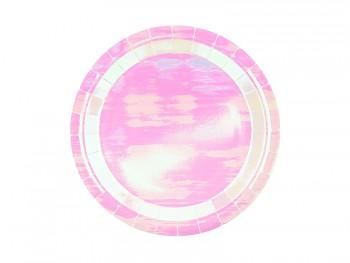 Talíře papírové iridiscentní 23 cm 6 ks