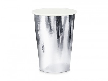 Kelímek stříbrný papírový 220 ml 6 ks
