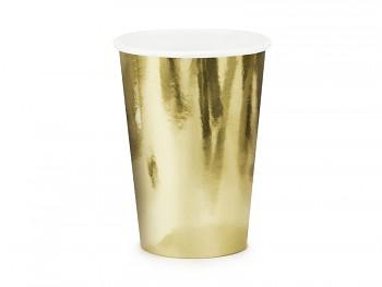 Kelímek zlatý papírový 220 ml 6 ks