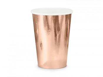 Kelímek růžovozlatý papírový 220 ml 6 ks