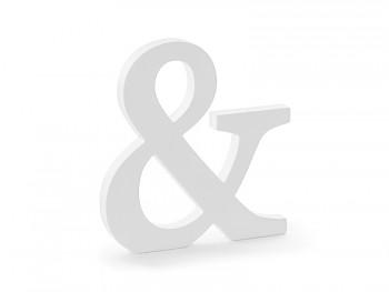 & - dřevěné písmeno bílé 19,5 x 20,5 cm