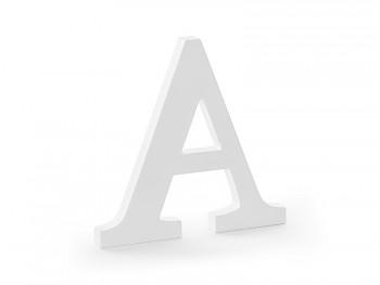 A - dřevěné písmeno bílé 21,5 x 20 cm