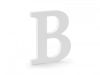 B - dřevěné písmeno bílé 16,5 x 20 cm