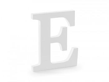 E - dřevěné písmeno bílé 17 x 20 cm