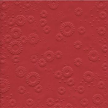 Ubrousky vytlačované vínově červené 16 ks