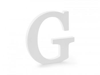 G - dřevěné písmeno bílé 19,5 x 20 cm