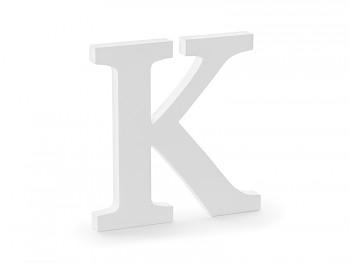 K - dřevěné písmeno bílé 19,5 x 20 cm