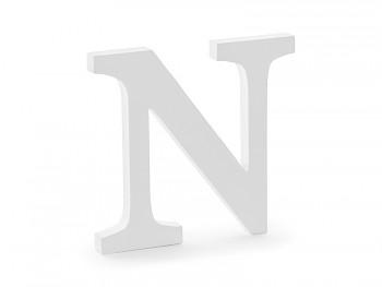 N - dřevěné písmeno bílé 21,5 x 20 cm