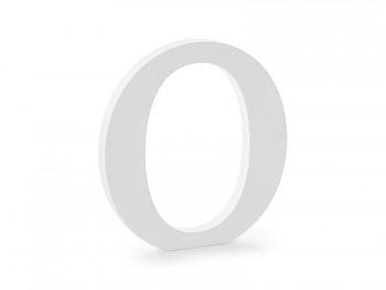 O - dřevěné písmeno bílé 19,5 x 20,5 cm