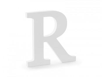 R - dřevěné písmeno bílé 19,5 x 20 cm