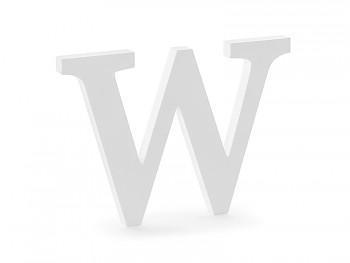 W - dřevěné písmeno bílé 26,5 x 19 cm