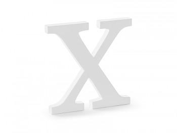 X - dřevěné písmeno bílé 19,5 x 19 cm