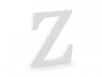 Z - dřevěné písmeno bílé 17 x 20 cm