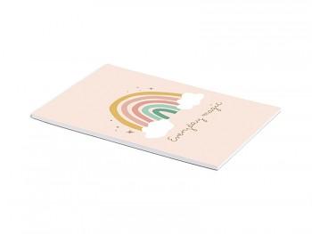 Kreslící papíry bílé s duhou A4 50 listů