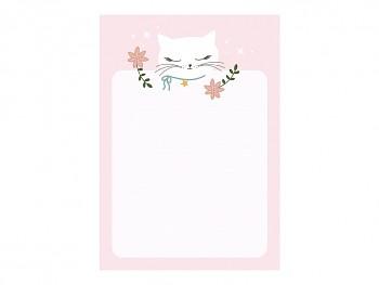 Psací bloček s kočičkou 8,5 x 12 cm 40 listů