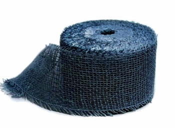 Jutový pásek tmavě modrý 8 cm x 25 m