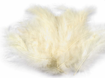 Ozdobné peříčko vanilla ivory 20 ks