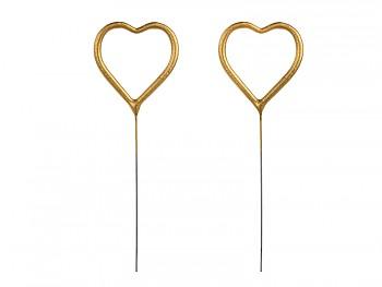 Prskavky zlatá srdce 2 ks