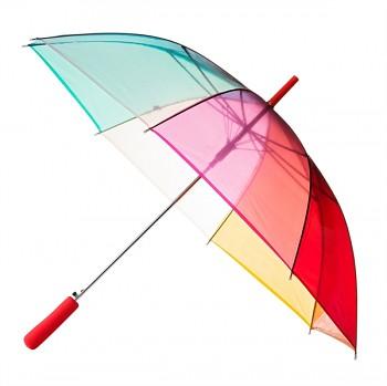 Deštník duhový průhledný dámský