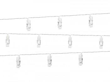 Kolíčky led světelný řetěz 1,4 m