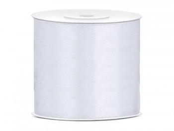 Stuha saténová bílá 75 mm x 25 m