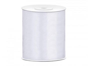 Stuha saténová bílá 100 mm x 25 m