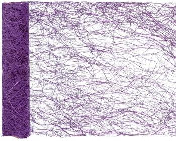 Šerpa na stůl abaka široká fialová 60 cm x 5 m