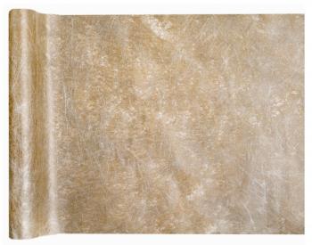 Šerpa na stůl bronzová metalická Fanon 30 cm x 25 m