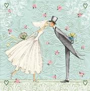 Ubrousky vytlačované Nevěsta a ženich 16 ks
