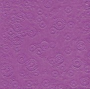 Ubrousky vytlačované fialové 16 ks