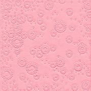 Ubrousky vytlačované světle růžové 16 ks