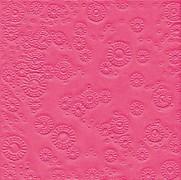 Ubrousky vytlačované sytě růžové 16 ks