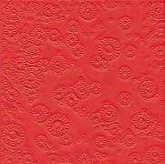 Ubrousky vytlačované červené 16 ks