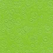 Ubrousky vytlačované limetkově zelené 16 ks