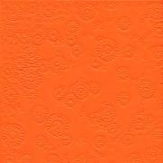 Ubrousky vytlačované oranžové 16 ks