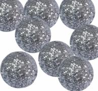 Dekorační třpytivé kuličky stříbrné