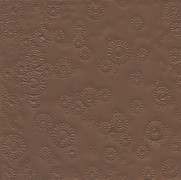 Ubrousky vytlačované hnědé 16 ks