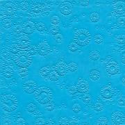 Ubrousky vytlačované azurově modré 16 ks